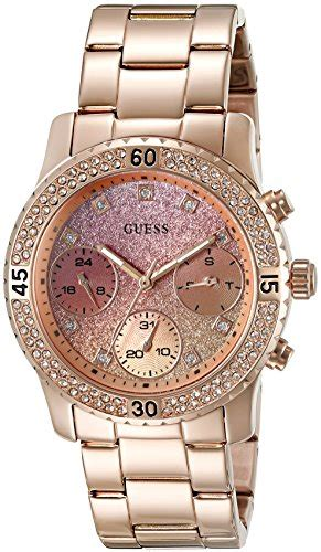 Guess Gs0277 Pink Rosegold guess u0774l3 guess s stainless steel glitter accented color gold