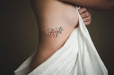 42 cool breast cancer ribbon tattoos designs