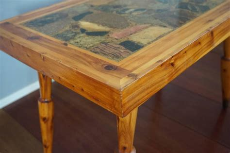 Juniper Coffee Table Vintage Design Canadian Juniper And Rock Coffee Or End Table With Makers Name For Sale At