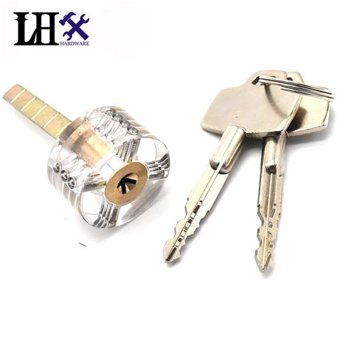 Cabinet Door Locks With Key Lhx Fmms280 Hardware Transparent Cutaway Practice Lock Cross Key Locks For Door Drawer Cabinet