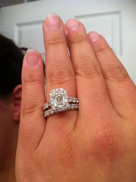 emerald cut diamond engagement ring  baguettes