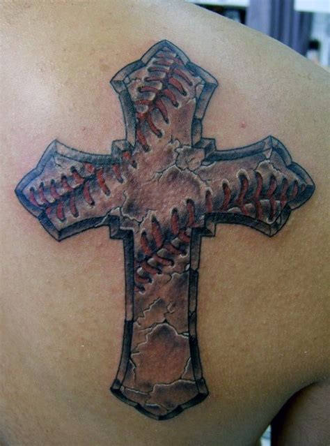 detailed cross tattoos 20 baseball cross designs for religious ink ideas