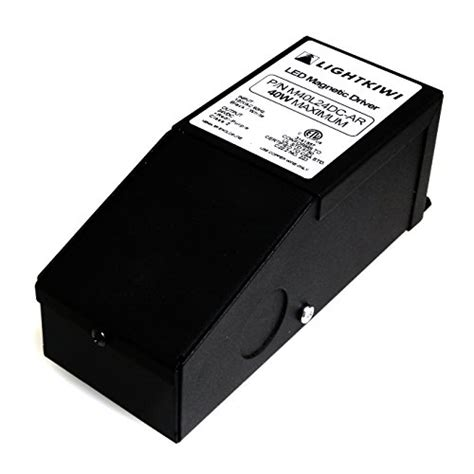 Lightkiwi H1386 40 Watt Dimmable Transformer 24vdc For Cabinet Lighting Transformer