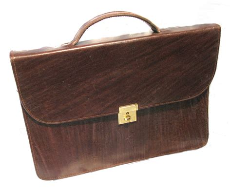 Handcrafted Leather Briefcase - handmade leather briefcase fair trade brown laptop tablet