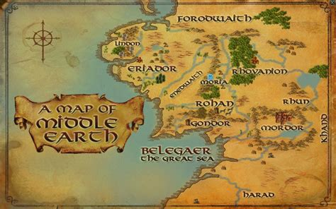 map middle earth loko s quot adventure through middle earth quot