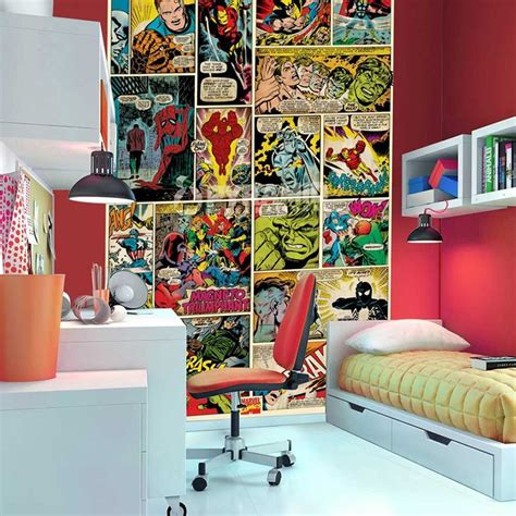 marvel bedroom decor marvel comics and avengers wallpaper wall murals d 201 cor
