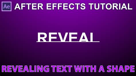 after effects tutorial shockwave text effect part 2 2 after effects tutorial revealing text with a shape youtube