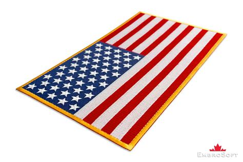 colored flag of united states of america embroidered patch