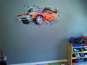 car crashing through the wall wall tapestry
