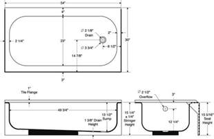 length of standard standard bath tub dimensions