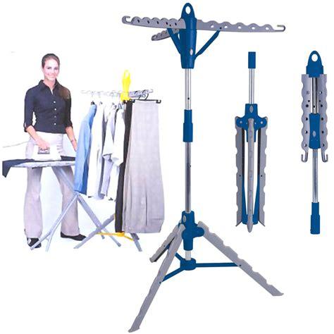 multi portable folding standing tier garment clothes shirt hanger dryer airer ebay