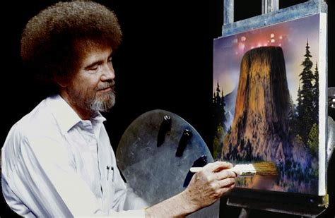 painting pbs bob ross erncounters of the third by brandtk on