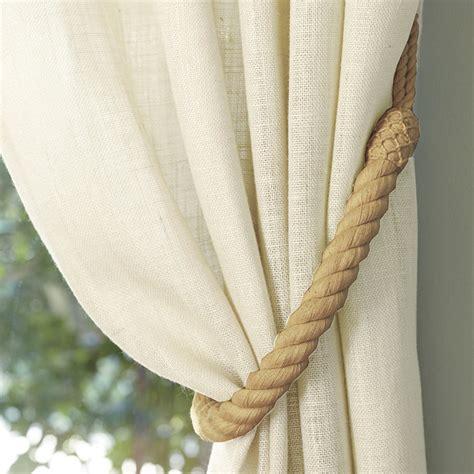 rope drapery tiebacks rope tieback ballard designs