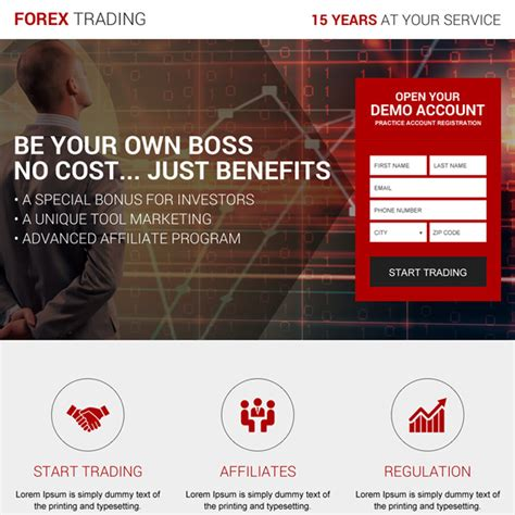 forex landing page template forex trading landing page design templates to boost your