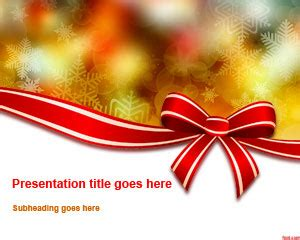 free christmas bow powerpoint template free powerpoint
