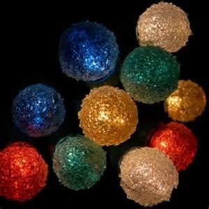 string lights 35 sugar coated mini globe bulbs green