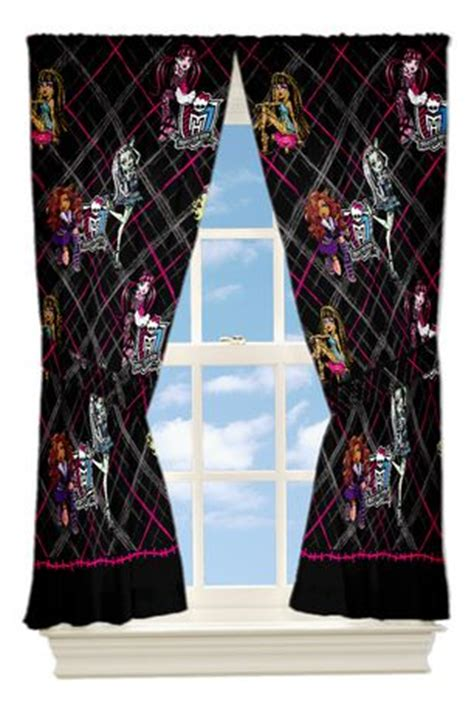 monster high curtains monster high coolest ghouls drapes walmart ca