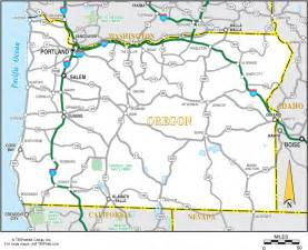 road maps of oregon state