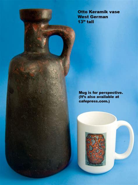 Mug Keramik Kartun 1 Otto Keramik W German Pottery Vase Jug Matte Black Glaze