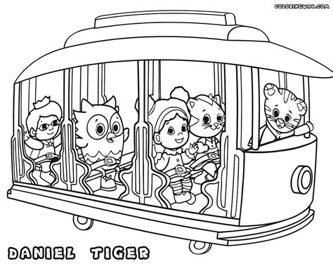 daniel tiger coloring page coloring home