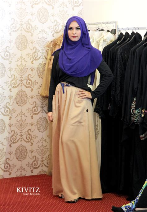 Dress Mini Blue Brown Qiranasa Mini Dress Biru Coklat Pita Qiran kivitz amna boutique grand launching quot i m in quot