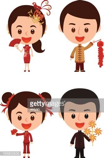 new year in characters new year kid characters vector getty images