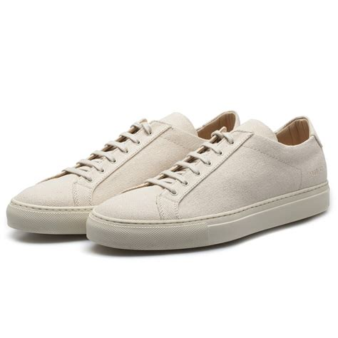 by common projects sneakers common projects white premium canvas achilles low