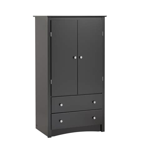 2 door armoire black sonoma 2 door armoire