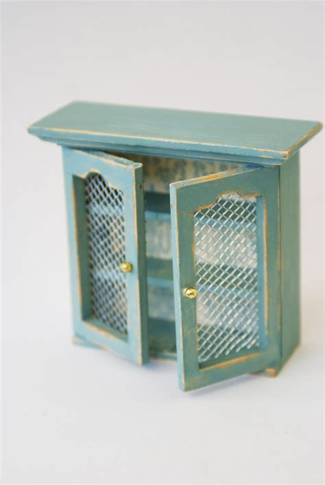 Chicken Wire For Cabinets by Chicken Wire Kitchen Cabinet Rustic Dolls House Miniature