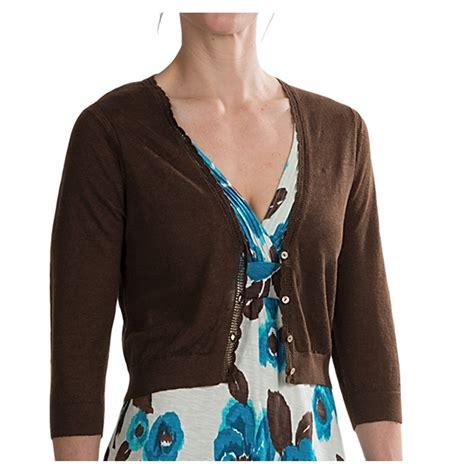 3 4 Sleeve Cardigan bahama lea cropped cardigan sweater 3 4 sleeve