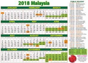 Kalendar 2018 Jabatan Perdana Menteri Tds