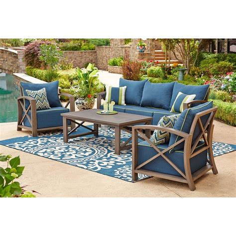sams outdoor furniture nantucket 4 pc seating set indigo sam s club furniture indigo sam s club