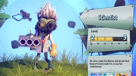 plants  zombies garden warfare  scientist youtube