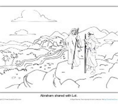 coloring page abraham and lot abraham coloring page printable abram and lot separate
