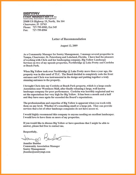 Reference Letter Manager letter of recommendation for manager bio letter format