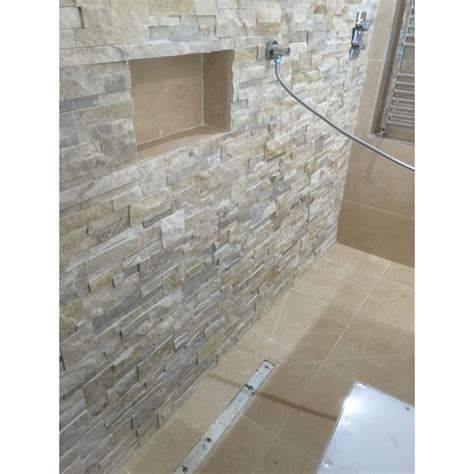split face shower wall stonewood