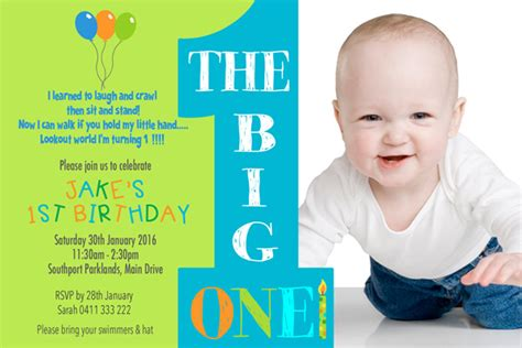 1st birthday invitation for baby boy australian made boys birthday invitation printed or digital file 1st birthday any age