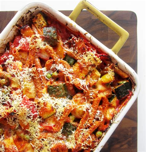 baked penne with roasted vegetables recipe giada de baked penne with roasted vegetables