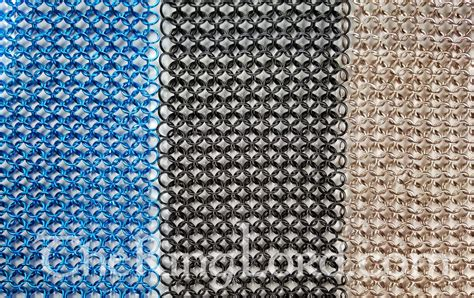 fabrics mail sheets of chainmail theringlord com chainmail jump rings jumprings scalemail jewelry supplies