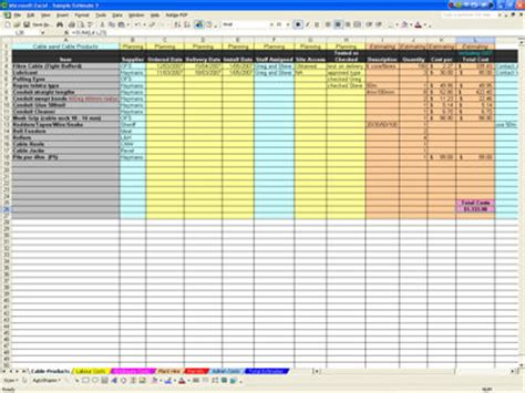 patch panel spreadsheet accessprogram