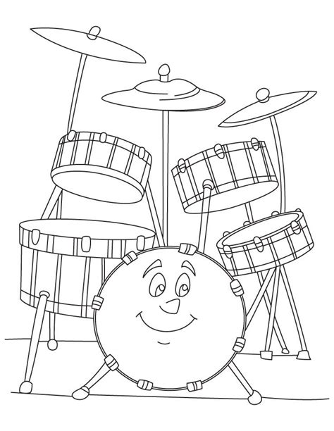 colour doodle drawing board desenho de bateria feliz para colorir tudodesenhos