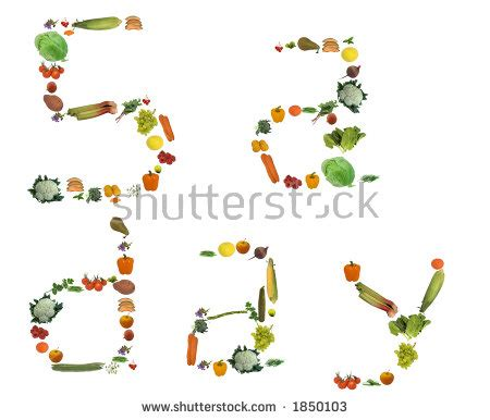 5 fruits and vegetables per day 5 fruits and vegetables per day stock photos images
