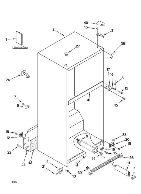 kenmore elite refrigerator diagram cabinet parts diagram parts list for model 10674904401