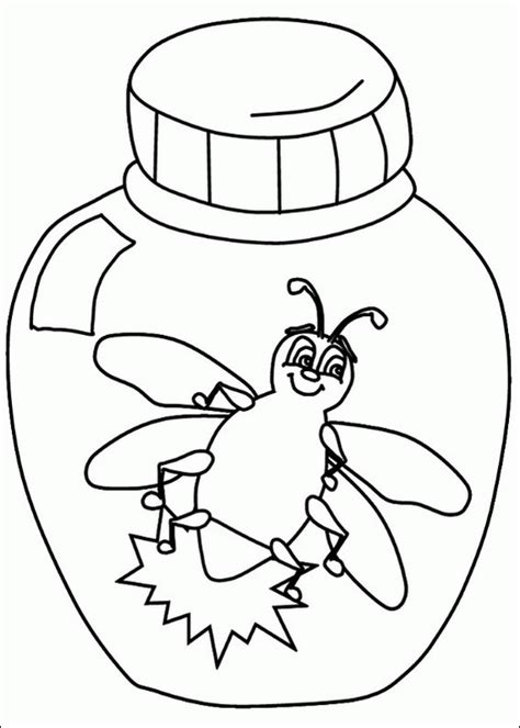 l is for lightning bug coloring page spring