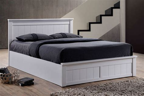 white wooden ottoman bed wooden ottoman bed optional memory foam mattress 2 sizes