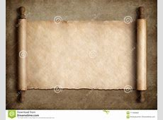 Ancient Scroll Parchment Over Old Paper Background Stock ... Diploma Scroll Vector