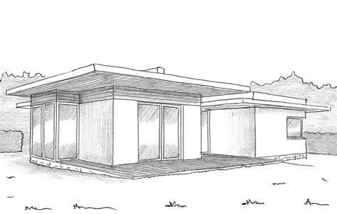 Plan De Maison Avec Patio by Plan Maison 224 Toit Plat Avec Patio Ooreka