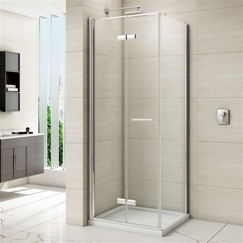 Shower Doors Bifold with Merlyn 8 Series Frameless Hinged Bifold Shower Door 1000mm M87231