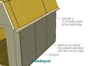 How To Build Gambrel Roof Shed Roof Gambrel How To Build A Shed Shed Roof