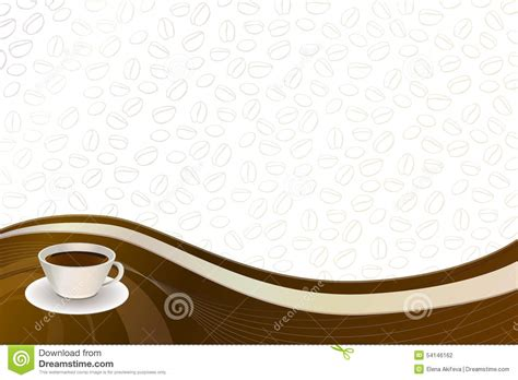 coffee cafe wallpaper vector abstract background coffee brown beige cup stock vector
